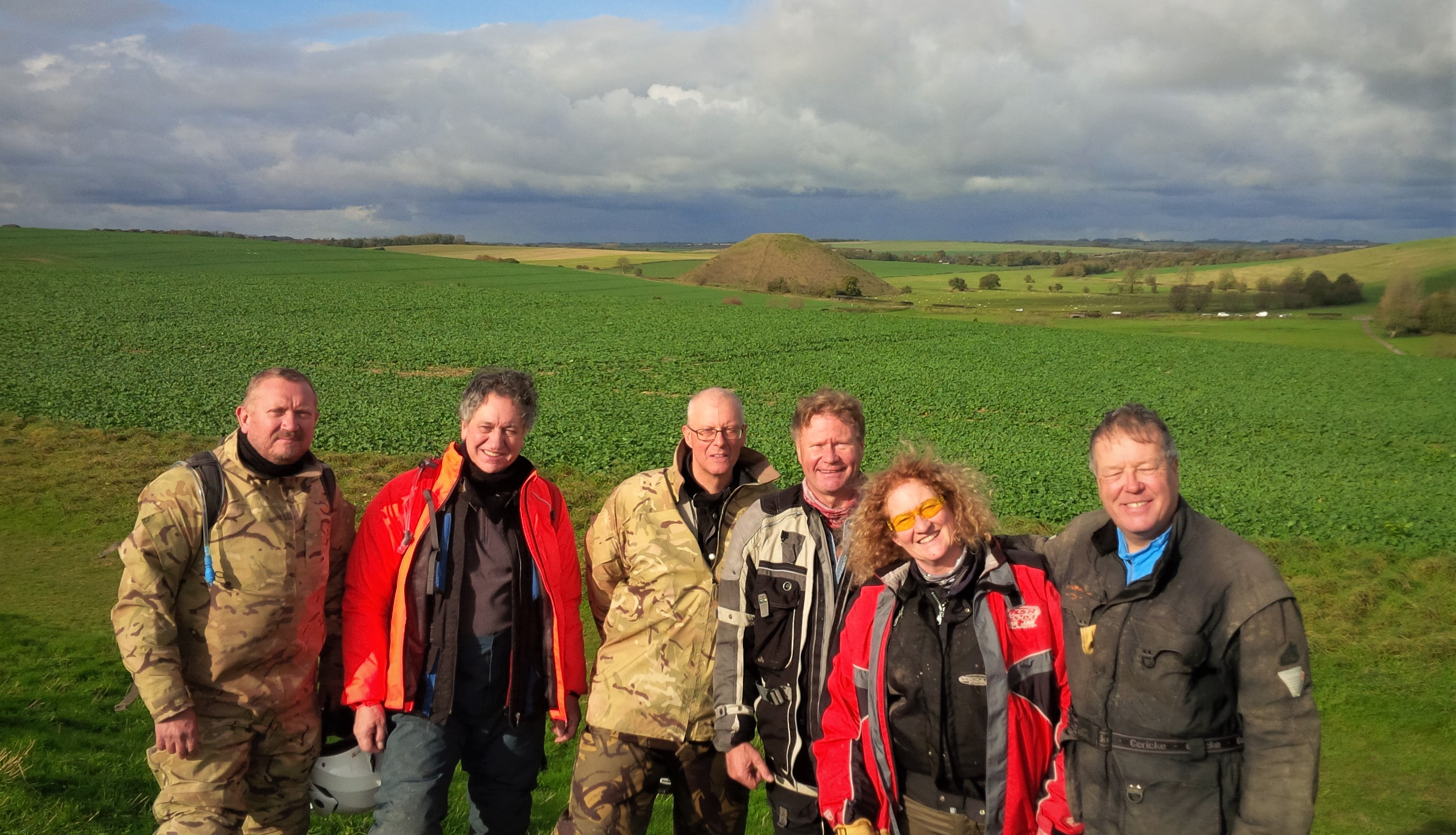 Silbury Hill - John Wedeman, Andrew Byatt, Keith Johnston, Keith Dobson, Becky Burbidge, Steve Burbidge