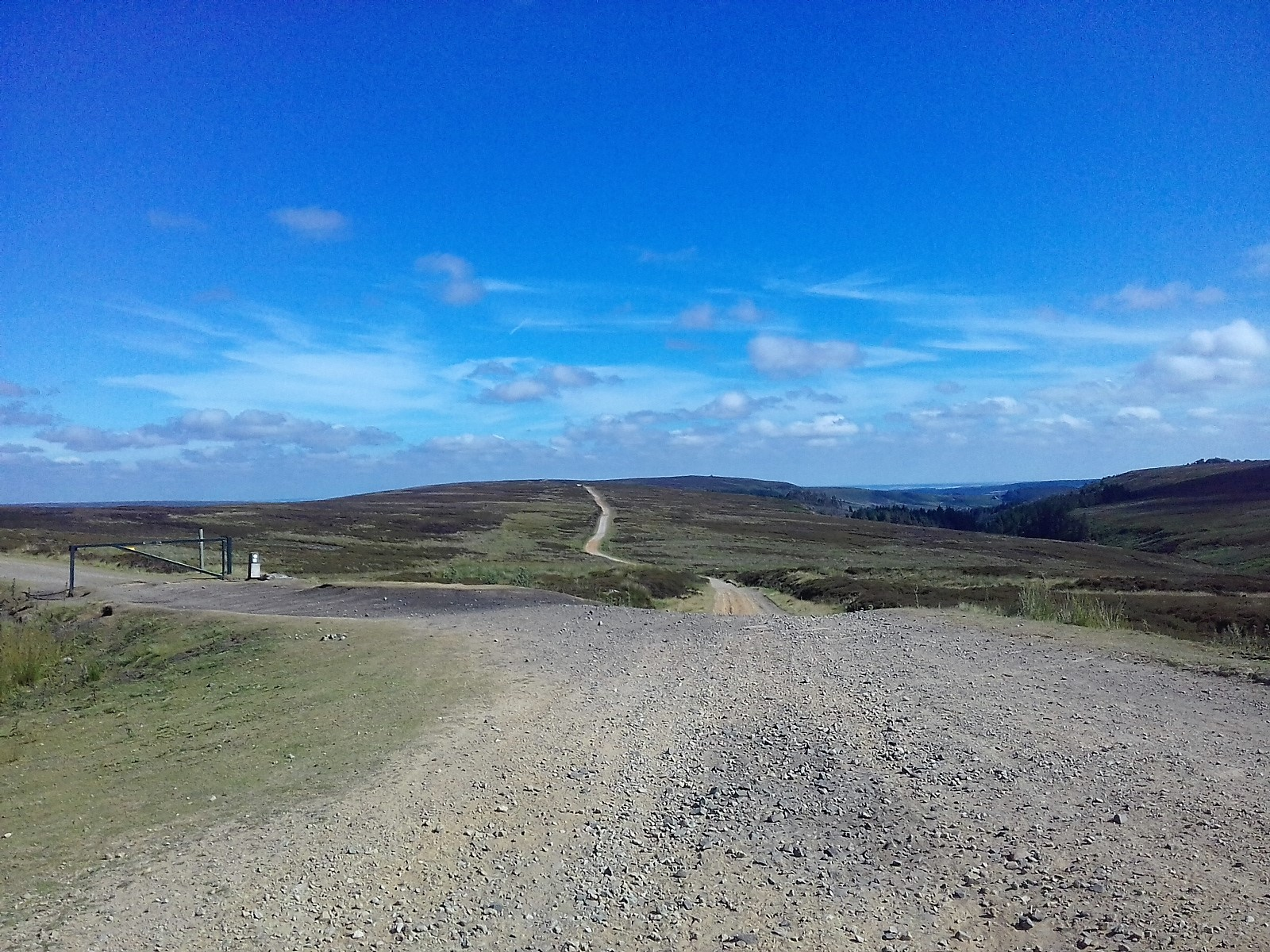Day 1. the 9 mile track across the moors